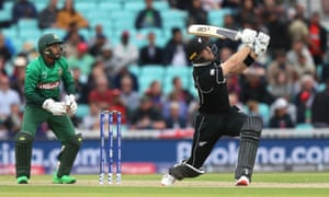 Guptill sends it to the stands for six.