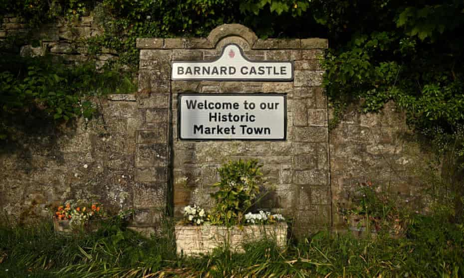 A welcome sign for Barnard Castle