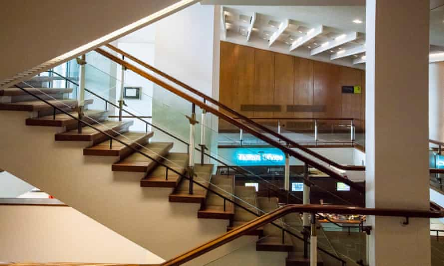 Trevor Dannatt's close attention to detail was evident in staircases at the Royal Festival Hall, London.