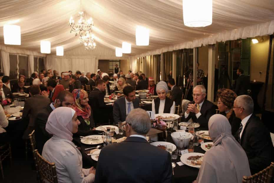 Malcolm Turnbull hosts an iftar dinner during Ramadan at Kirribilli House