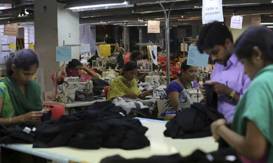 Garment-making at Go Go International in Bangalore, India, Thursday, June 1, 2017.