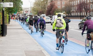 Cyclists in South London.