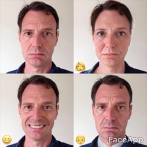 Tim Dowling on FaceApp … 'Offers two smile options, at least one of which is guaranteed to make you look like a git.'