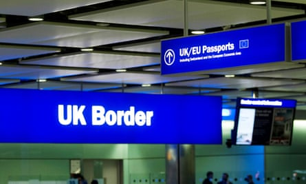 UK border security sign