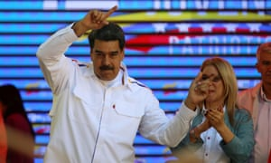 Nicolas Maduro at a rally on Tuesday.
