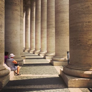 Resting in the colonnade, esthermetcalf@yahoo.co.uk