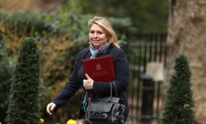 The Northern Ireland secretary, Karen Bradley, arrives for a cabinet meeting in Downing Street