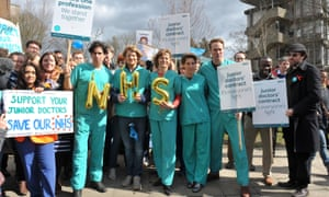 Green Wing cast members on a picket line at Northwick hospital, Middlesex.