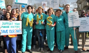 'We ended up on the picket line with some junior doctors.'