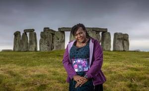 Maggie Aderin-Pocock at Stonehenge