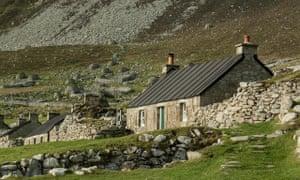 Renovated cottages in Hirta village, St Kilda.