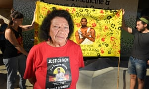 Leetona Dungay outside the inquest into her son David Dungay's death in custody at Long Bay jail
