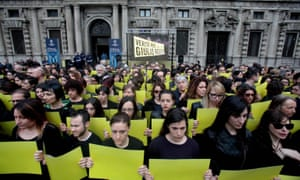 Protest action for murdered Italian student Giulio Regeni