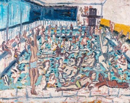 Leon Kossoff's Children's Swimming Pool, Autumn Afternoon (1971)