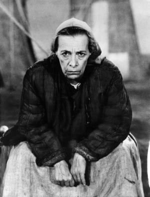 Brecht's wife Helene Weigel, seen here, played Mother Courage in a 1949 production, eight years after its premiere, starring Therese Giehse in the title role. Weigel also played the character in a 1961 film.