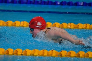 Sixteen-year-old Ellie Robinson who won gold in the women's S7 50m butterfly.