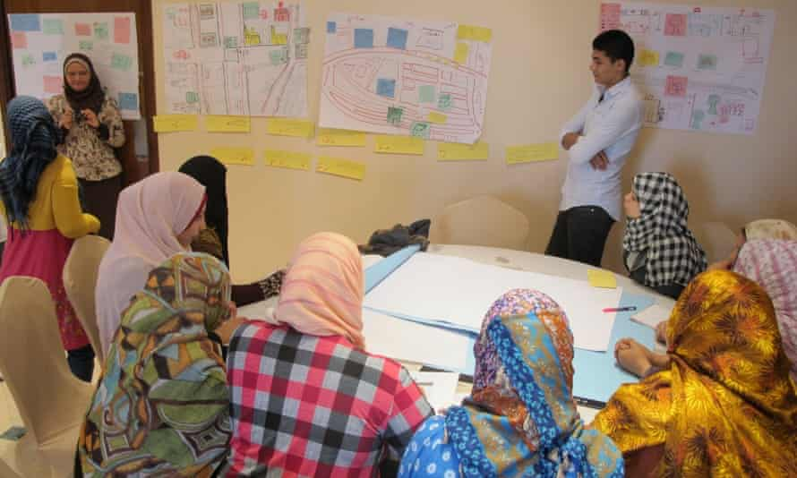 a public space workshop for the Because I am a Girl urban programme.