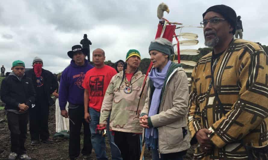 Jill Stein oil pipeline protest North Dakota