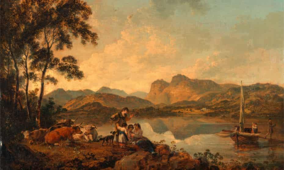 Langdale Pikes by 18th-century artist Julius Caesar Ibbetson.