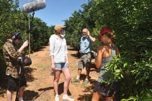Film-maker Katherine Stoner on location in Mildura