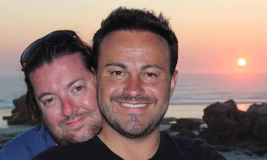 David (left) and Marco Bulmer-Rizzi in Australia the day before an accident in which David died.