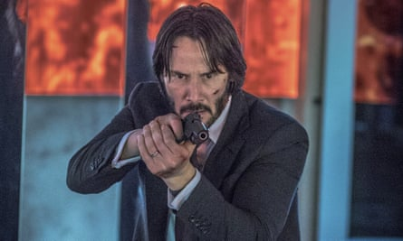 'A string of elaborate bullet ballets with only trace elements of a plot' ... Keanu Reeves in John Wick: Chapter 2.