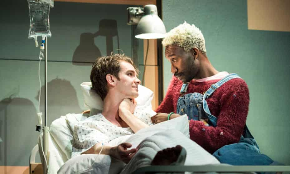 'You couldn't phone it in' … Andrew Garfield and Nathan Stewart-Jarrett in the National Theatre's 2017 revival of Angels in America.
