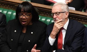 Diane Abbott and Jeremy Corbyn in the Commons. Abbott will stand in for Corbyn at this week's PMQs