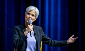 Green party presidential candidate Jill Stein, shown here at an August forum in Las Vegas, denied the notion that she is anti-vaccine.