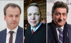Arkady Dvorkovich, Nigel Short and Georgios Makropoulos.