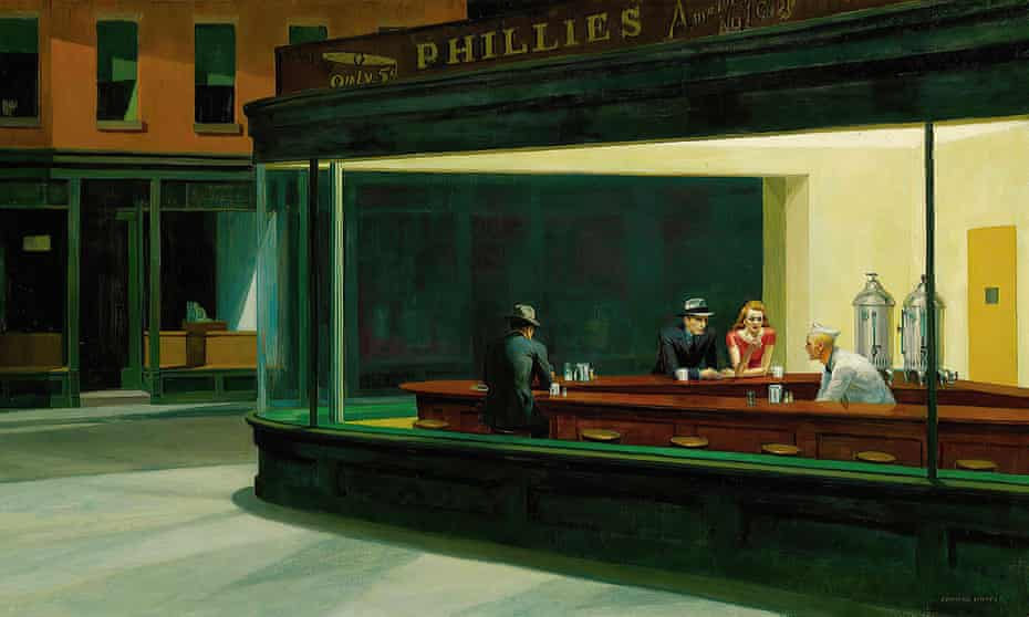 Edward Hopper's painting Nighthawks: showing how city life can isolate us.