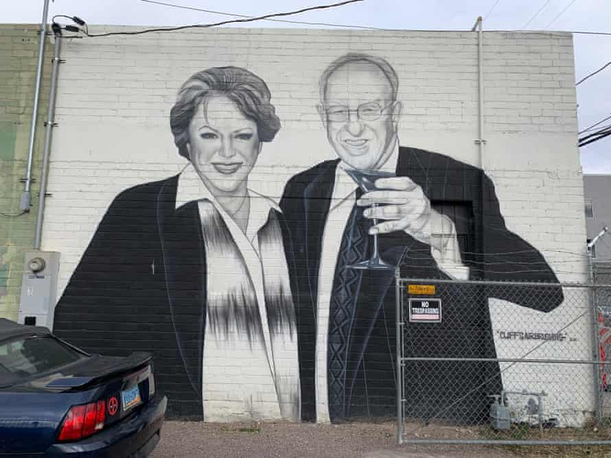 Goodman and her husband, Oscar, are commemorated in the city's art's district.