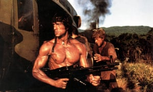 Stallone in Rambo: First Blood Part II.