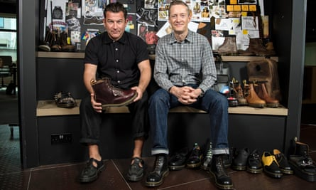 Damien Wilson, left, and Kenny Wilson at Dr Martens head office in Camden