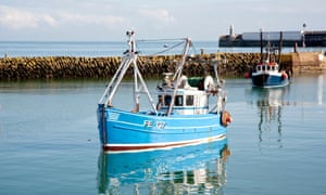 Which way is Shepway? A fishing boat seen in Folkstone harbour.