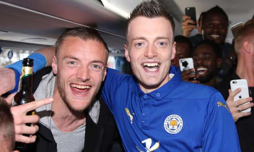 Jamie Vardy and Lee Chapman in happier times.