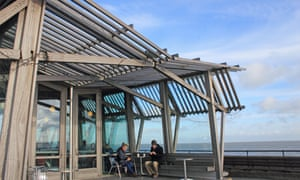A brisk walk along the coast, then a warming cup, here at the pier cafe in Deal, Kent.