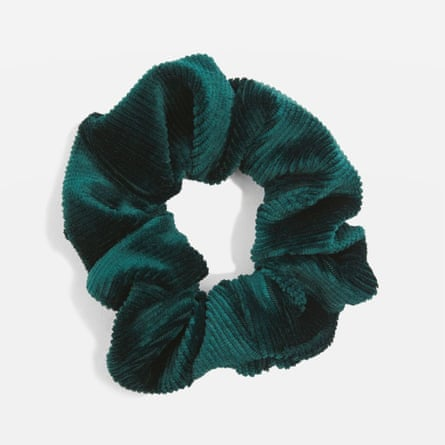 Corduroy scrunchie from Topshop - £4.