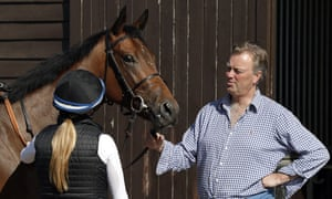 Racehorse trainer George Baker at his Robins Farm stables
