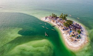 Tiny tear-shaped tropical island