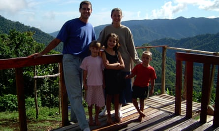 Brooke and Joey Tartaglia with their family when they lived in Papua New Guinea.