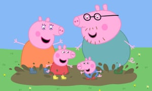 Be afraid … Peppa Pig, with Mummy, Daddy and George.