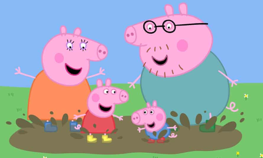Peppa Pig and family.