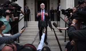 Jeremy Corbyn addresses the media, May 2017