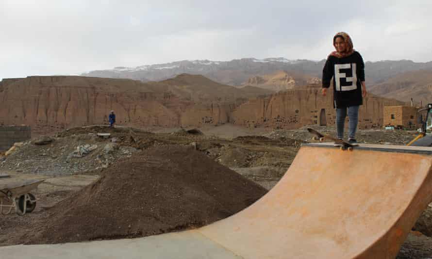 The quarterpipe at Skateistan's new Bamyan Mubaraka skatepark