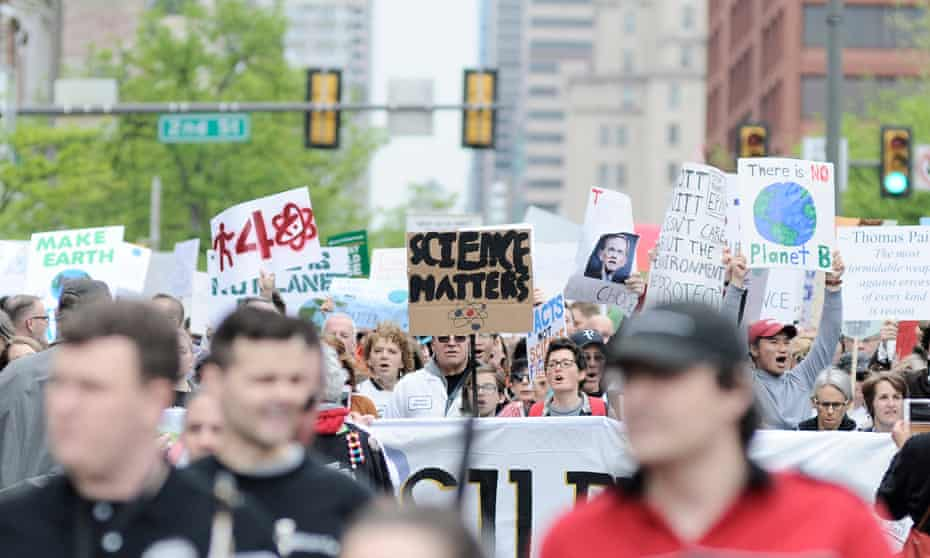 Thousands participate in the National March for Science in Philadelphia on Earth Day in 2017.