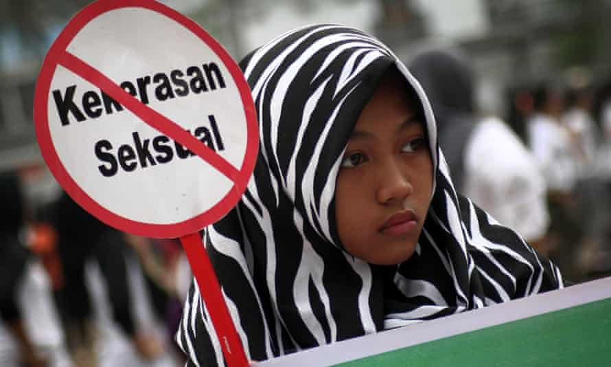 Indonesian protest against child sexual abuse