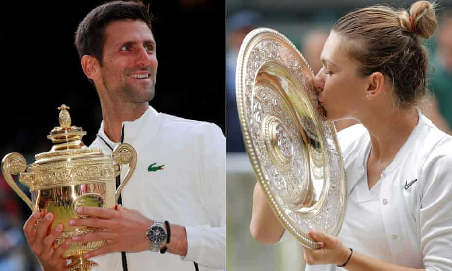 Novak Djokovic and Simona Halep are unlikely to be able to defend their Wimbledon titles.
