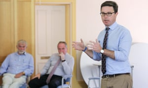 Agriculture minister David Littleproud speaks at a community drought forum in Tamworth on Tuesday