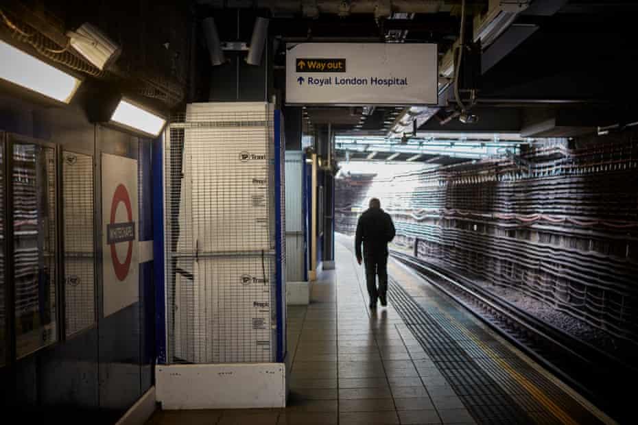 Whitechapel underground station.